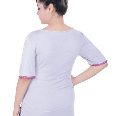 Summer Maternity Pyjamas light purple back view