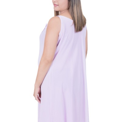 Double layer Chiffon Maternity Summer Dress as seen from the back