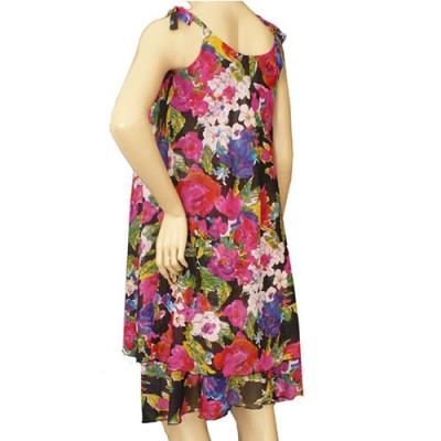 Chiffon Summer Maternity Dress in Floral back