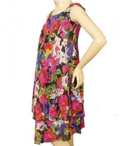 Chiffon Summer Maternity Dress in Floral print