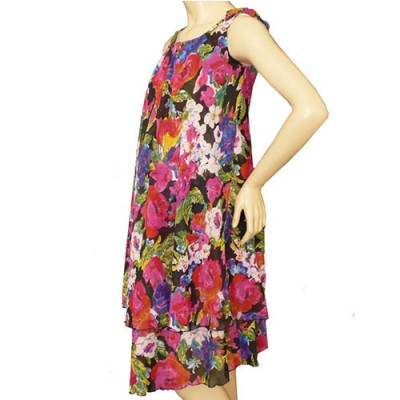 Chiffon Summer Maternity Dress in Floral