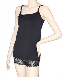 Nursing camisole black