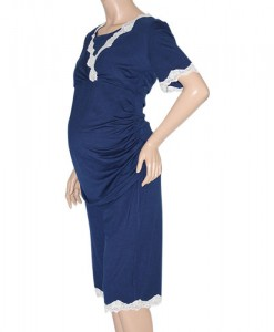 Navy blue Summer Maternity and Nursing Pyjamas