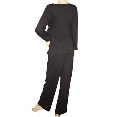 winter-maternity-and-breastfeeding-pyjamas-black-back