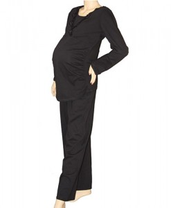 winter-maternity-and-nursing-pyjamas-black-front
