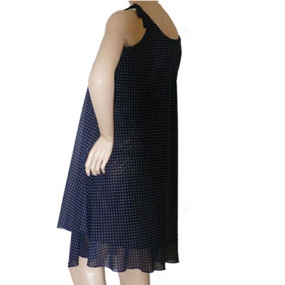 Chiffon Summer Maternity Dress in Blue back