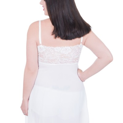 Back view of the Ivory Maternity Negligee