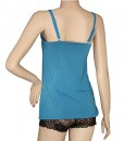 Nursing or breastfeeding camisole Teal back