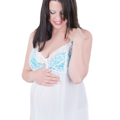 Ivory Maternity Negligee
